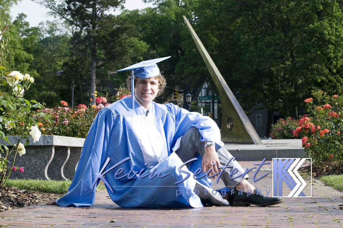 Carolina Graduation Portrait UNC-Chapel Hill