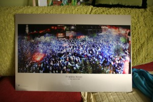 40x30 or 30x20 Aluminescent print on aluminum