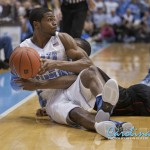 Dexter Strickland picks up a loose ball