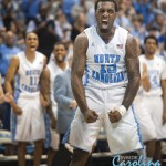 PJ Hairston celebrate a bucket and a foul.